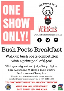 FOTF Bush Poet Breakfast